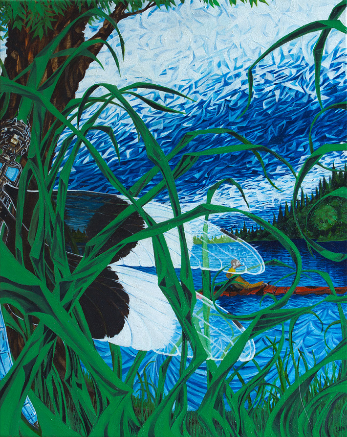 Dragonfly Float | 16 x 20 | Oil on canvas | 2014