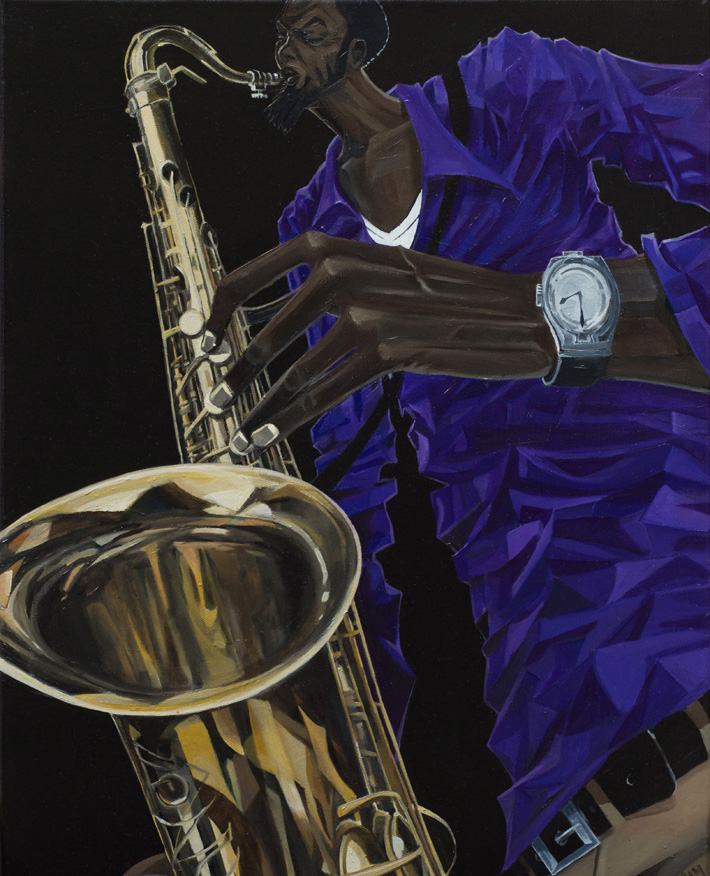 Sax Player | 16x20"
